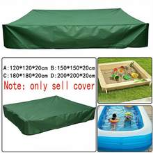 120/150/180/200cm Oxford Cloth Dust Cover Drawstring Sandbox Sandpit Dustproof Cover Canopy Waterproof Shelter Garden Farm(China)