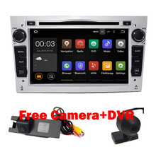 "7"" HD 1024X600 Android 7.1 Car DVD GPS Navigation for Opel Astra Vectra Antara Zafira Wifi 3G BT Radio USB SD Free Camera+DVR"