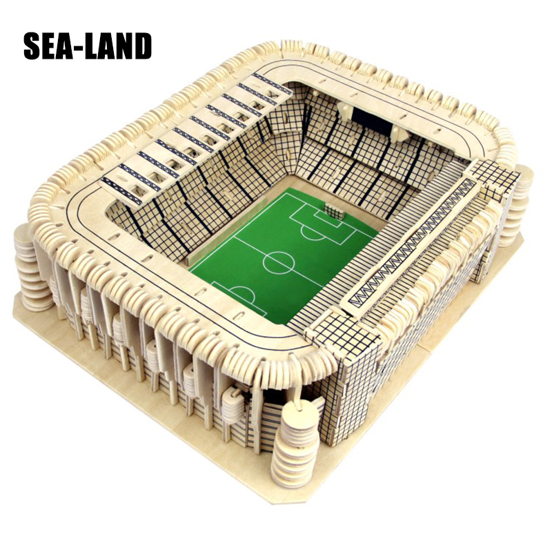 3D Wooden Puzzles Children Toy Soccer Field Model Classic 3D DIY Puzzles 515 Pcs Hobby Gift For Children Early Educational Toys 99pcs plastic scrabble tiles english letters numbers black white font toy for kids children puzzles model educational toys