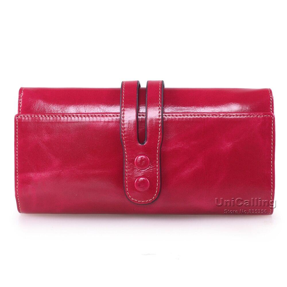 Marque Mode Femmes red Cuir Frais Tout Style Et Red Long Mini Portefeuille American Européenne Petit Hasp Rose Véritable En De allumette rwfCqr