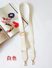 130cm Shoulder Bag Strap PU Leather Belt Adjustable Wide Strap Bag Accessories For Women Crossbody Handbag Replacement White цена и фото