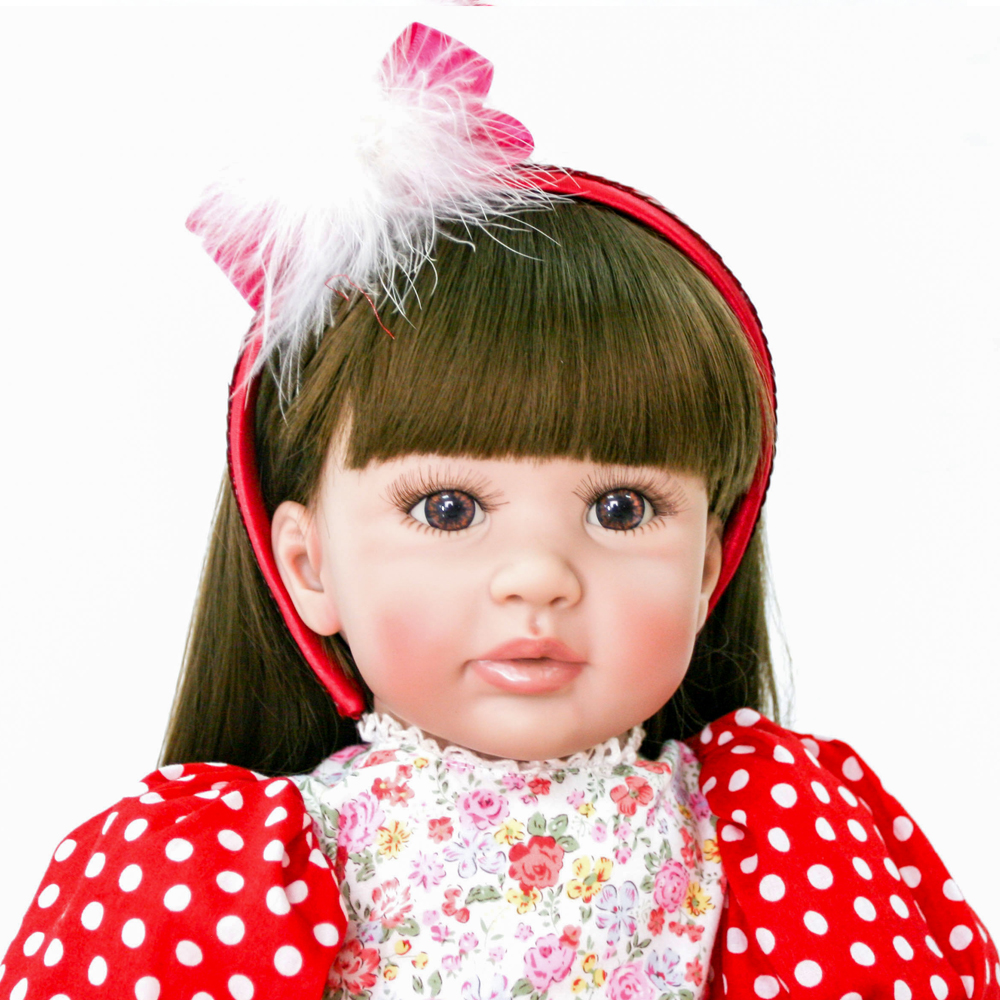 Dynamic 60cm Silicone Reborn Babies Princess Dolls Toddler Vinyl Simulated Doll Bebes Reborn Xmas Gifts Cotton Body Boneca Brinquedos Quality And Quantity Assured Dolls & Stuffed Toys Toys & Hobbies