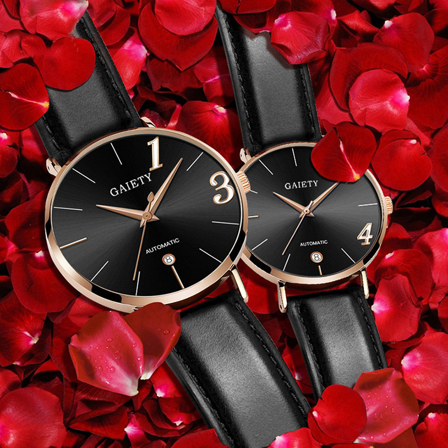 Couple Watch Clocks Strap Gift Women Quartz Feminino Female New-Fashion Relogio title=