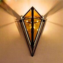 Post Modern LOFT Diamond Wall Lights Living Room Aisle Corridor Bedroom Bedside Lamps Sconces Lighting Decoration Luminaire
