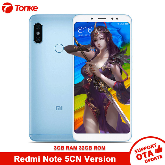 US $137 99 |Original Global Firmware Xiaomi Redmi Note 5 3GB RAM 32GB ROM  Snapdragon 636 Octa Core Full Screen Dual Camera 12MP+5MP Mobile-in Mobile