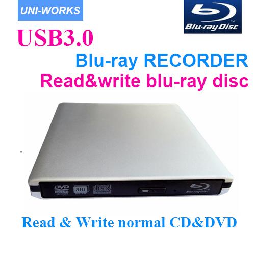 Prix pour USB3.0 lecteur Bluray Externe blu-ray enregistreur lire et écrire blu-ray disc 3D et normale CD DVD soutien windows10 et Mac