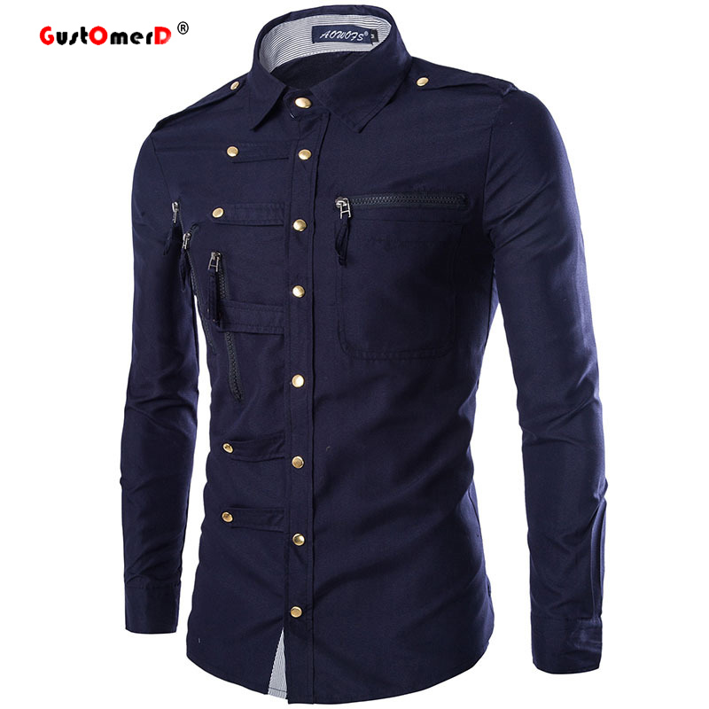 Buy spring 2016 new men cotton shirts for Best mens dress shirts 2016