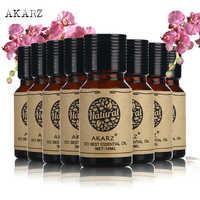 AKARZ wartości zestawy do pielęgnacji skóry Oregano + jaśmin + eukaliptus + drzewo herbaciane + Citronella + piżmo + róża + kwiat wiśni olejki eteryczne 10 ml * 8