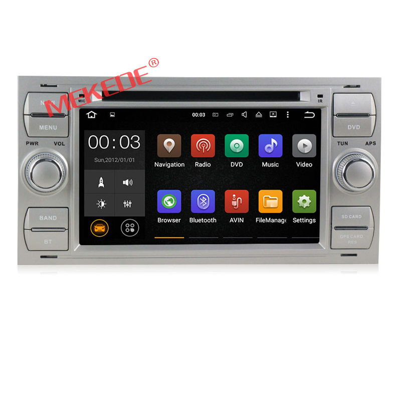 2 Din 7 Inch In Dash Android 7.1 Car DVD For Ford/Mondeo/Focus/Transit/C-MAX With Quad Core Wifi GPS Navigation Radio FM