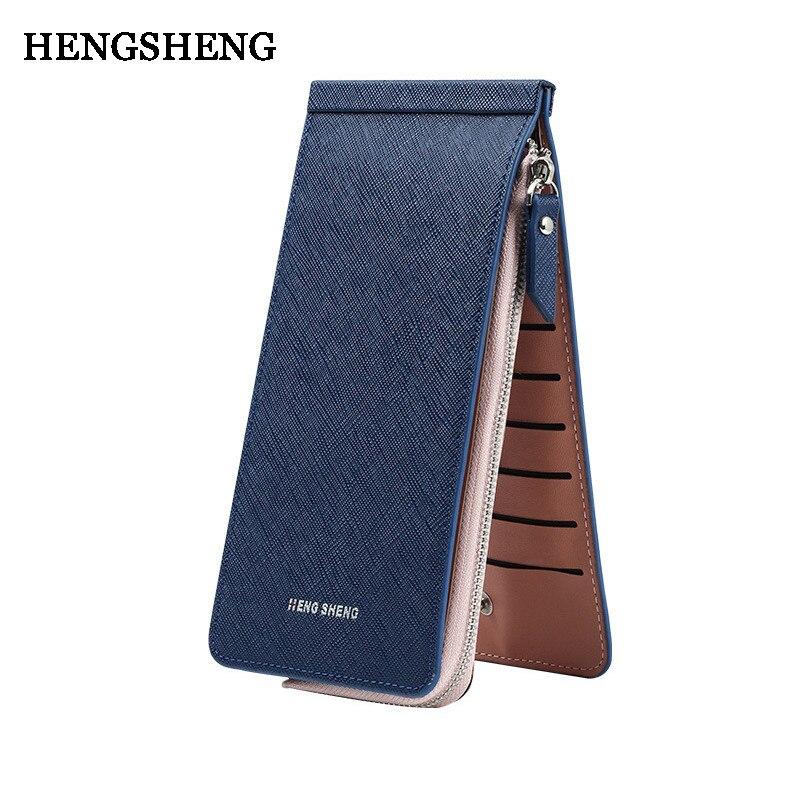 3d46b899be24 HENGSHENG PU bőr cipzáras pénztárca-Nő 7 színben hosszú pénztárcák ...