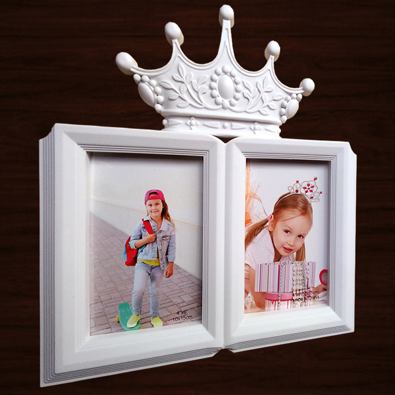 6INCH Photo Picture Frame For Children Baby Photos 2 OPENING FRAME On Table Home Decoration