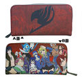 Anime good product of the new listing of the FAIRY TAIL  Logo Red Long Zipper Two Fold Wallet