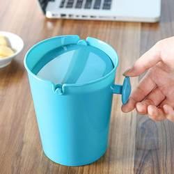 Креативный милый практичный профессионал конфетного цвета качалка крышка Настольный мусорный бак мини мусорный бак оранжевый