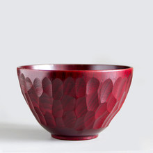 Natural Wood Bowls for Rice/Noodles Japan Style Lacquer Carving Wooden Salad Bowls Eco-Friendly Tableware