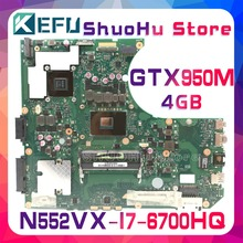 KEFU For ASUS N552VX N552V with CPU I7-6700HQ GTX950M/4GB Video laptop motherboard tested 100% work original mainboard стоимость