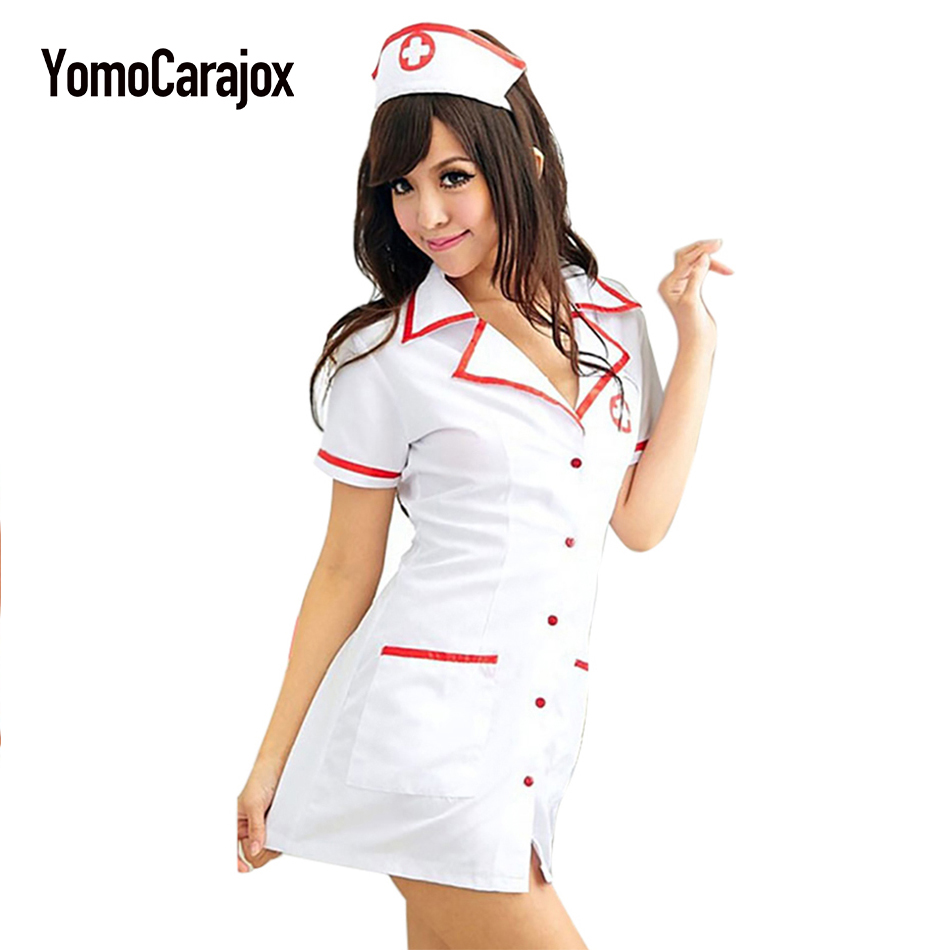 Aliexpresscom  Buy Sexy Nurse Costume Set Fantasias Hot Lingerie Sexy Erotic Cosplay For Womencostume Nurse Uniform Tempt V Neck Dress From -4497