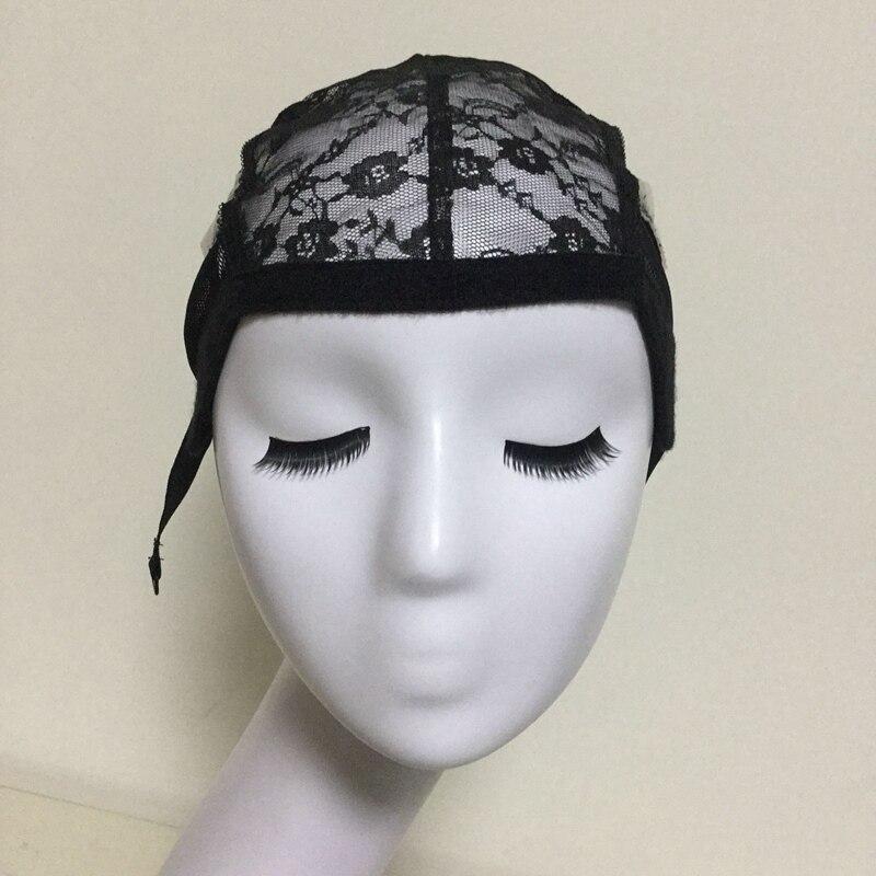 가변 스트랩과 가발을 만들기위한 Glueless 레이스 가발 모자 여성용 헤어 네트 및 Hairnets위한 모자를 짜기 도매 Easycap 6007