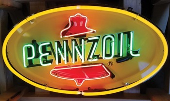 Custom Pennzoil Glass Neon Light Sign Beer Bar
