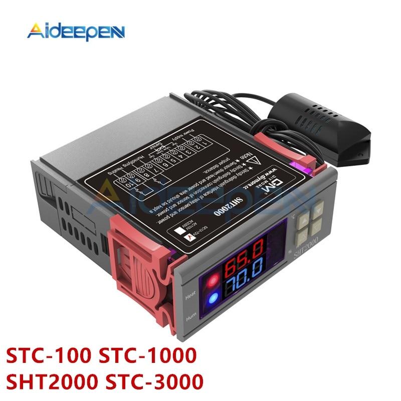 AC 110-220V DC 12V-72V STC-100 STC-1000 SHT2000 STC-3000 Digital Thermostat Temperature Controller Thermometer Sensor Hygrometer