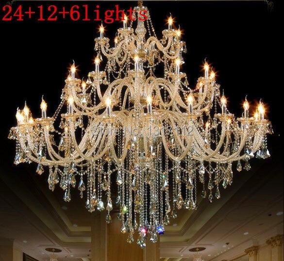 Led e14 lampadario di hotel lobby soggiorno lampade candela ...