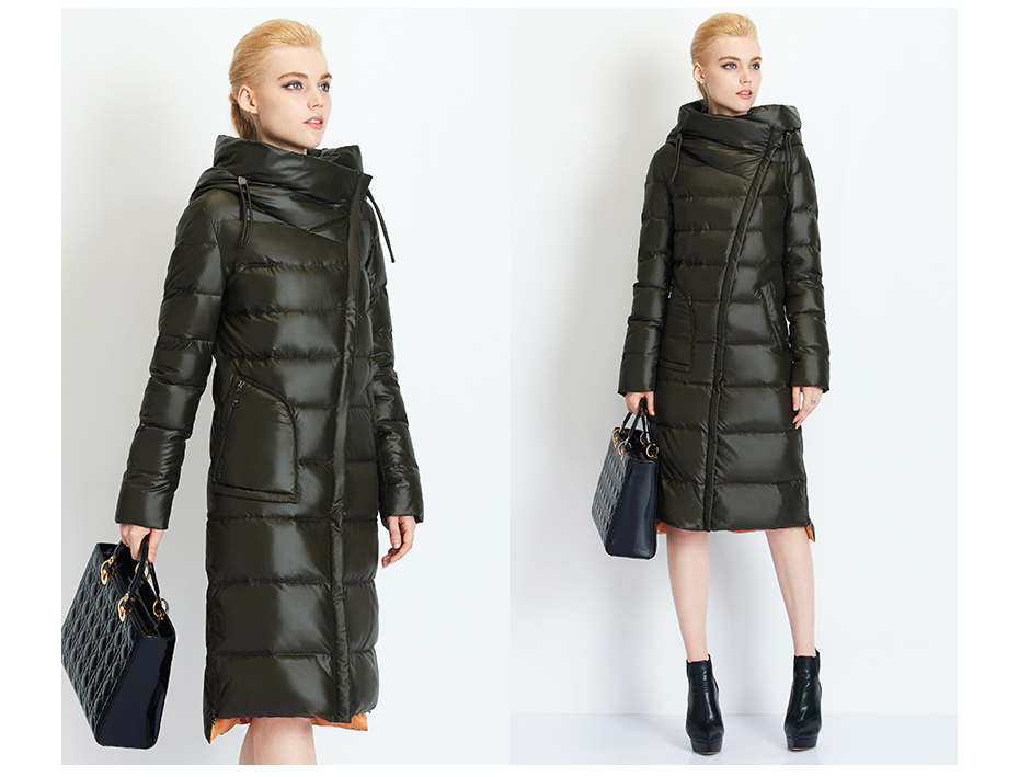 Fashionable Coat Jacket Women's Hooded Warm Parkas Bio Fluff Parka Coat High Quality Female New Winter Collection 36