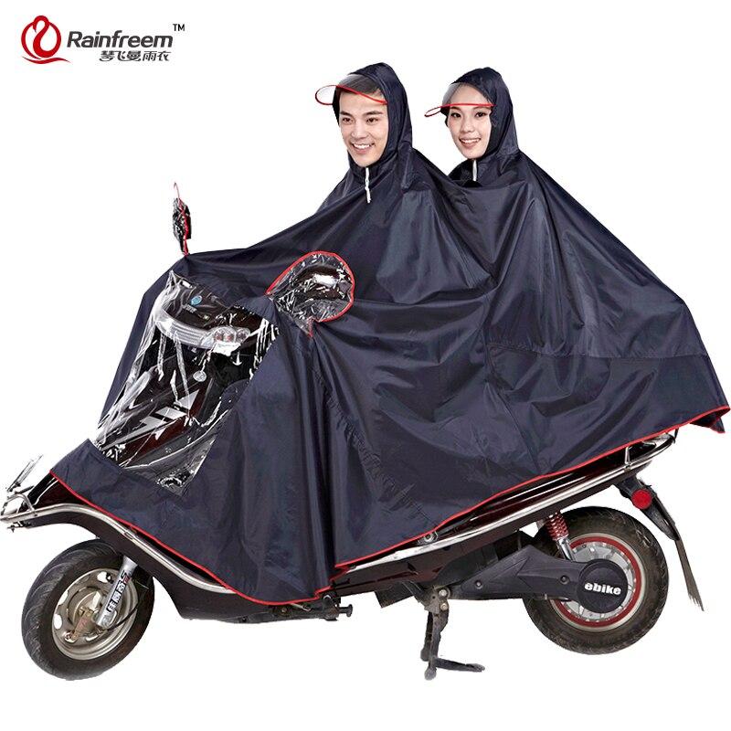 Nieprzepuszczalna Rainfreem płaszcz kobiety/mężczyźni grube motocyklowe odzież przeciwdeszczowa Poncho Oxford deszcz płaszcz kobiety wodoodporne deszcz Poncho biegów w Płaszcze przeciwdeszczowe od Dom i ogród na  Grupa 1
