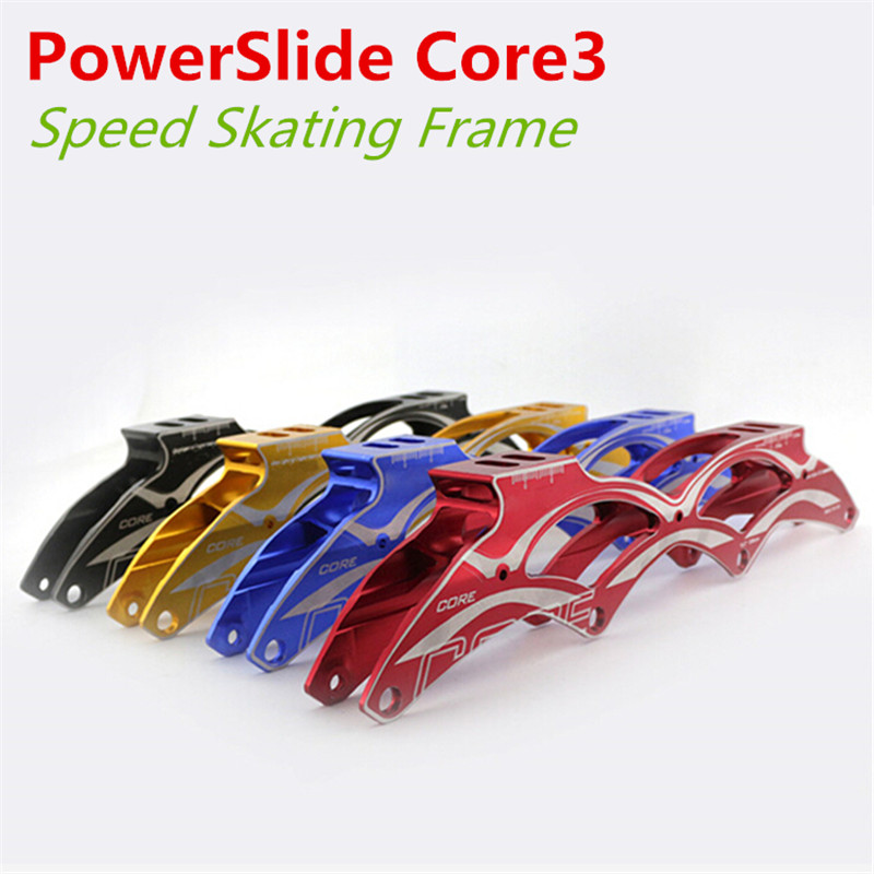 PowerSlide PS Core3 Inline Speed Skate Frame 4 X 100mm / 110mm, Core Generation 3, 4 Wheels Speeding Racing Skates Shoes Frame cityrun inline speed skate frame 3 125mm 12 6 aluminum alloy 7075 for 3 wheels speed skating shoes basins free shipping bases