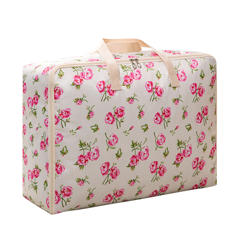 Flowers Colour Portable Quilt Storage Bag Waterproof Oxford Clothing Moving Luggage Bags Packaging Oganizer Accessories Supplies ...