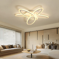 Shaped space LED ceiling light Nordic simple modern creative led ceiling light 3D LED Lighting fixture Acrylic Geometric lights