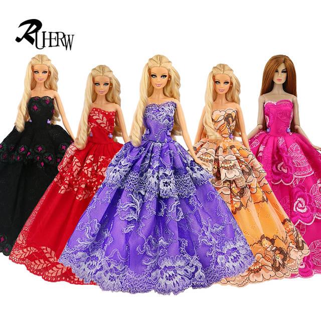 2018 Baru Buatan Tangan Pernikahan Gaun Pakaian Fashion Gaun untuk Boneka  Barbie Gratis Pengiriman e7a0888157
