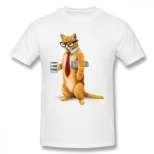 c113517a64f MAKEBAOCHI New Design Business Cat T-shirt Boy Geek Custom For Man O-neck  Top Tees