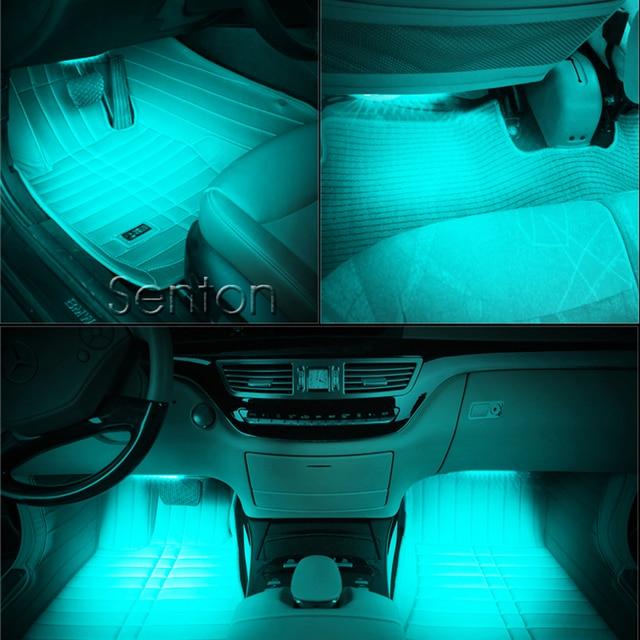 Tiras decorativas de luces de neón para ambiente, estilo de coche para Seat Leon Ibiza Toyota Avensis Corolla RAV4 Yaris, accesorios para Hilux