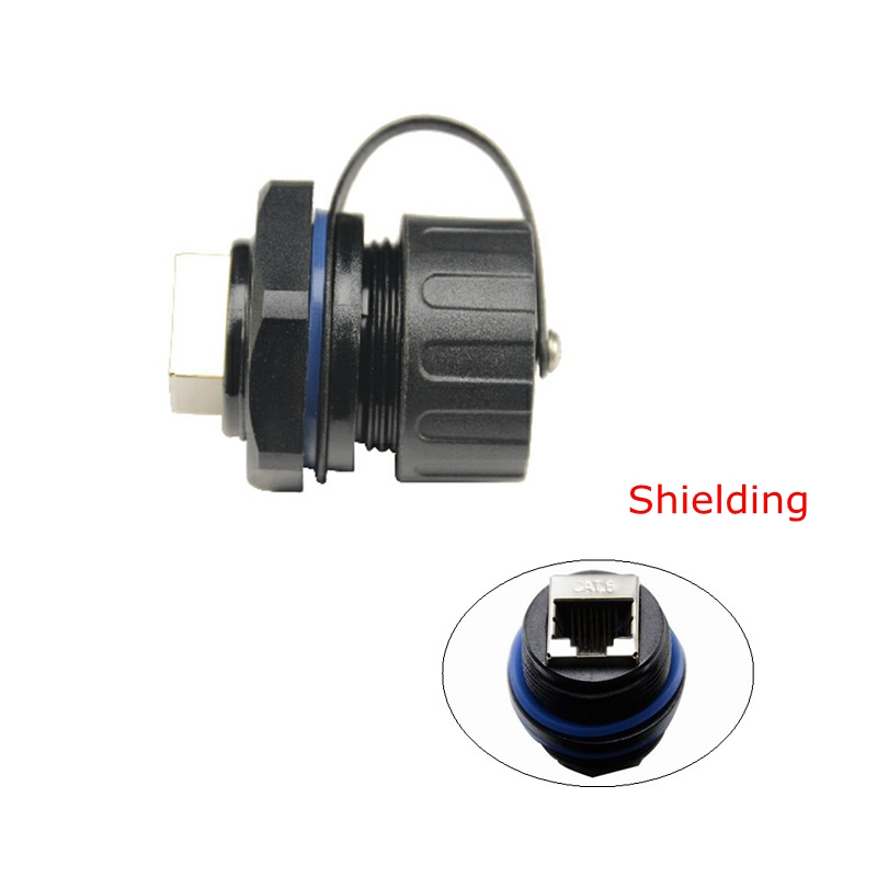 Computer Cables & Connectors Shielded M25 Rj45 Cat 5e Gigabit Ethernet Waterproof Connector Plug Rj 45 Ap Outdoor Ip Camera Ip68 Water Proof Cable 25cm