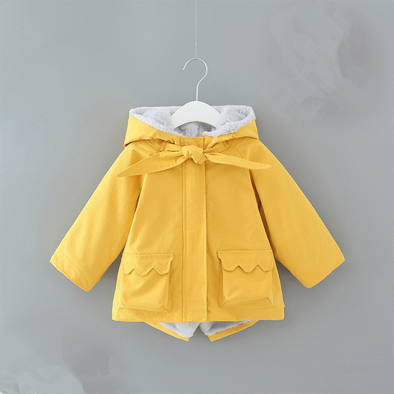 England Style Baby Girls Winter Autumn Jacket Coat Thick Warm Kids Hooded Outerwear Boy Down Parka Children Clothing 0-2Y