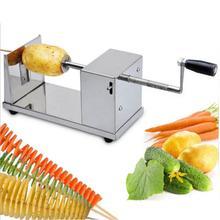 Kartoffelspiralschneider Edelstahl Manuelle Obst Gemüse Spiralizer Professionelle Küchenwerkzeuge Kartoffelschneider