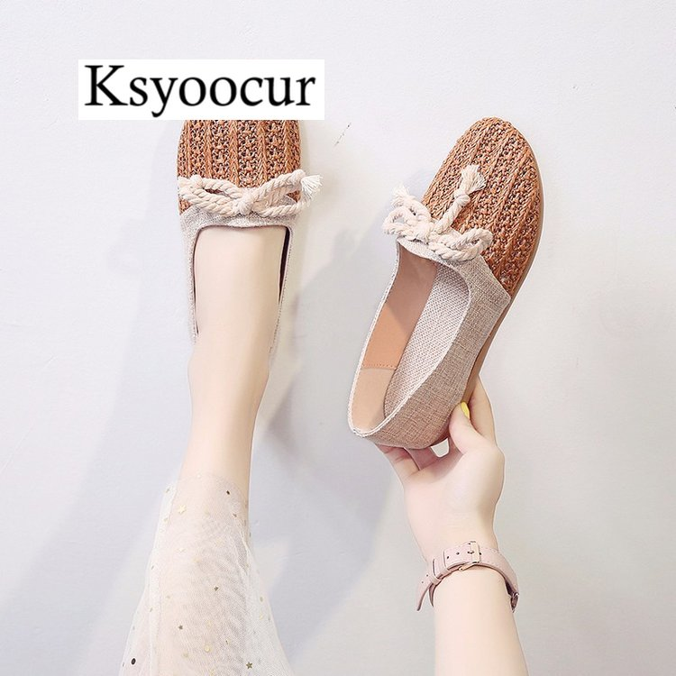 Image 4 - Brand Ksyoocur 2020 New Ladies Flat Shoes Casual Women Shoes Comfortable Round Toe Flat Shoes Spring/summer Women Shoes X03Womens Flats   -