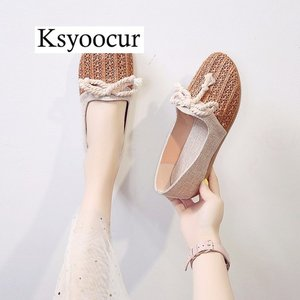 Image 4 - Brand Ksyoocur 2020 New Ladies Flat Shoes Casual Women Shoes Comfortable Round Toe Flat Shoes Spring/summer Women Shoes X03