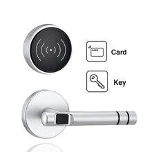 Zinc Alloy Silver Split Keyless Intelligent Digital Rfid Card Door Lock Security Electric Lock For Home or Hotel