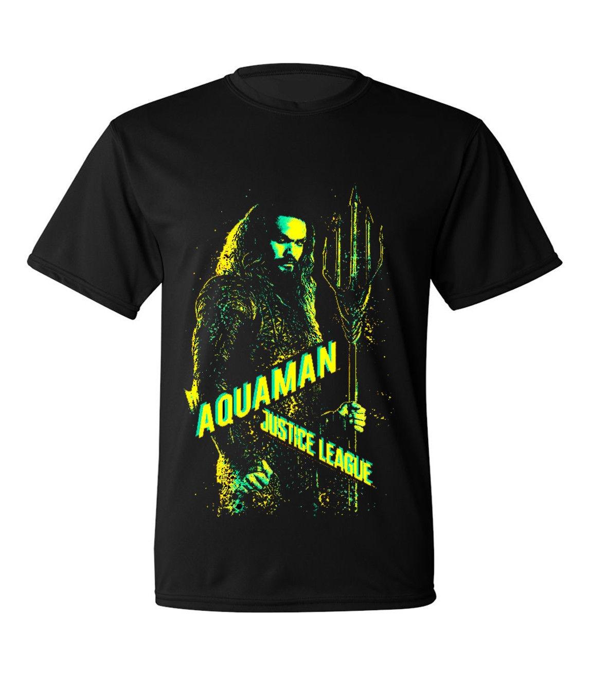 Gildan Justice League Movie Aquaman T-shirts for Men Women or Kids New