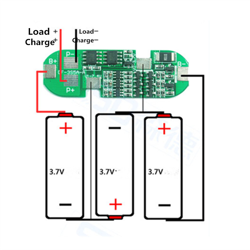 3S 6A Polymer Lithium Battery Charger Protection Board Li-ion Charging Module for 3pcs 18650 Lithium Battery liPo Cell 5pcs 2s 7 4v 8 4v 18650 li ion lithium battery charging protection board pcb 40 7mm overcharge overdischarge protection