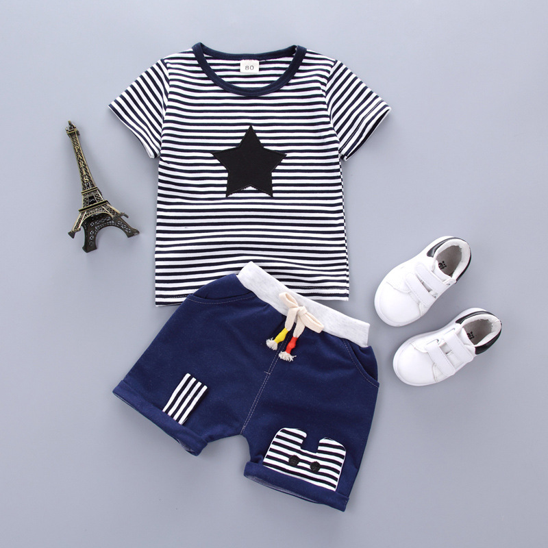 HTB1B 8LbBKw3KVjSZTEq6AuRpXa0 - Baby Boys Clothing Set Summer Tops Shorts Cotton Children Kids Sport Suit 1st Birthday Costume Toddler Boys Formal Clothes Sets