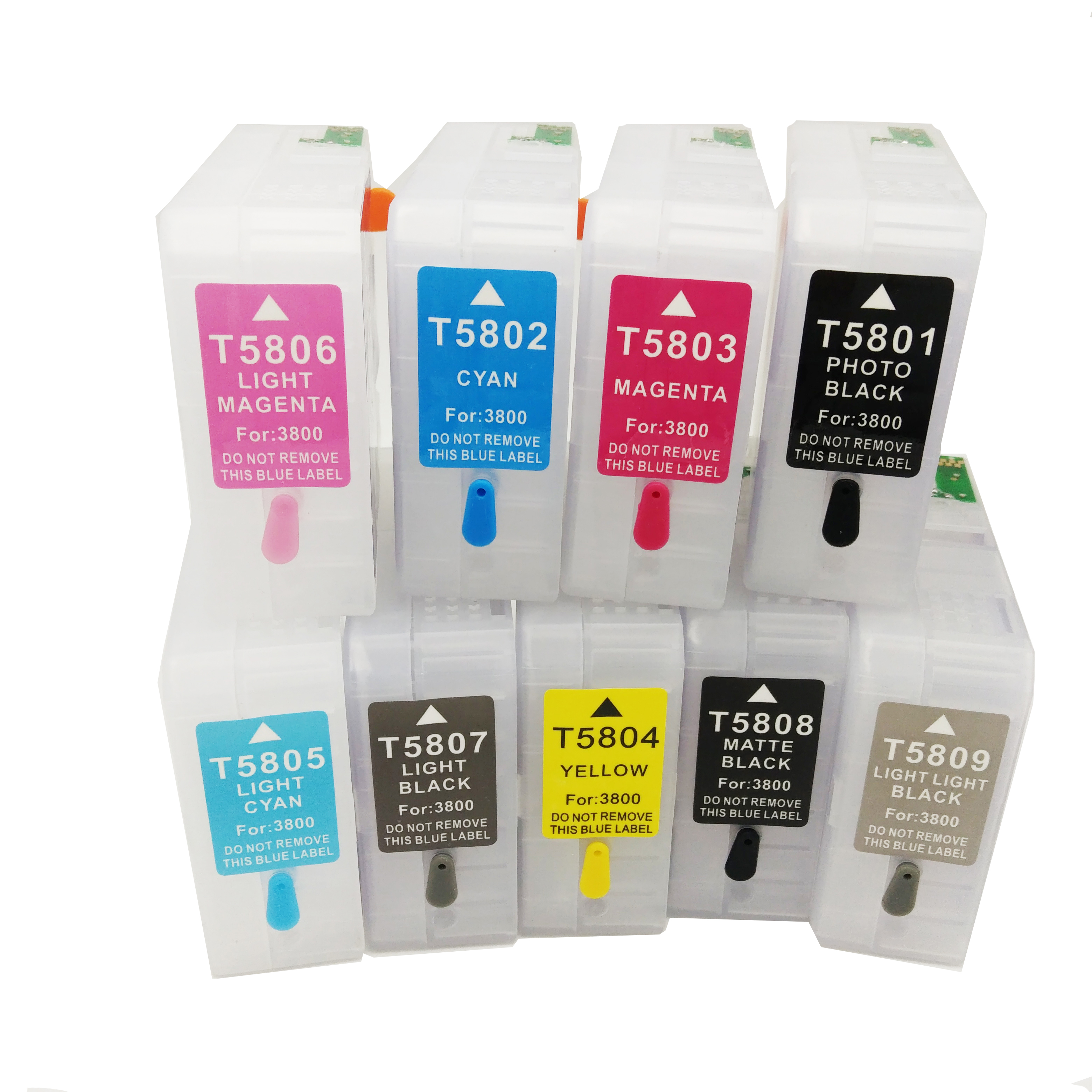 T5801 T5802 T5803 T5804 T5805 T5806 T5807 T5808 T5809 For Epson Stylus Pro 3800 3880 Empty Refillable Ink Cartridge