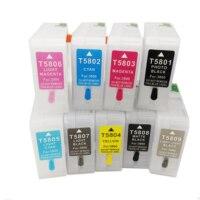 T5801 T5802 T5803 T5804 T5805 T5806 T5807 T5808 T5809 For Epson Stylus Pro 3800 3880 Empty Refillable Ink Cartridge