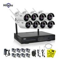 Hiseeu HD 1080P 8CH Wireless NVR Kit 2MP CCTV System Outdoor IR Night Vision IP Camera