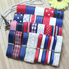 NEW STYLE High Quality DIY Grosgrain Ribbon Set Red Blue Cream Color Mix Ribbon Set