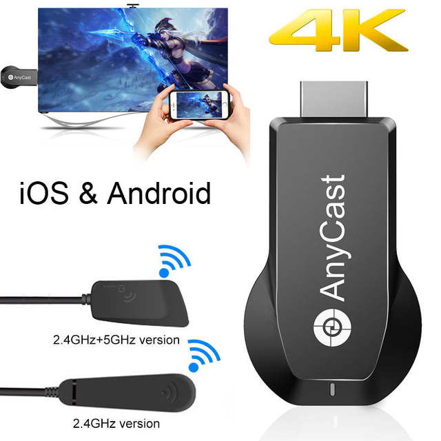 US $17 06 10% OFF|iOS12 4K AnyCast AirPlay Android Netflix HDMI Wireless  Wifi Display Dongle Video Adapter for iPhone X XS MAX XR 6 7 8 Plus TO  TV-in