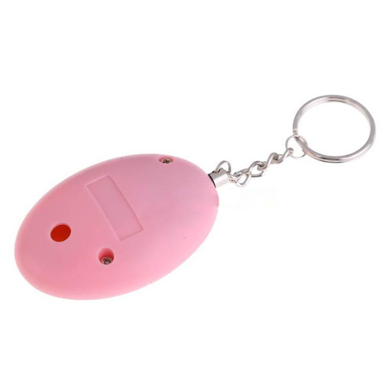 Security protection Cute Mini Personal Portable Guard Safety Security 85db Alarm Keychain Pink