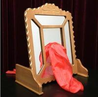 Шелковый через зеркало удаленного Управление, шелк в стекло, фокус, иллюзии, этап магический реквизит, весело, магическое шоу профессиональ