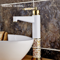 Bathroom Faucet Contemporary Concise Bath Faucet Antique Bronze Finish Brass Basin Sink Taps Single Handle Water