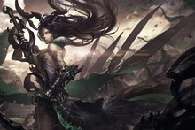 anime girls dark fantasy dragon squama 4 Sizes Home Decoration Canvas Poster Print
